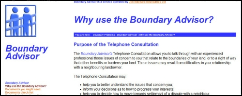 Click here to go to Boundary Advisor web site
